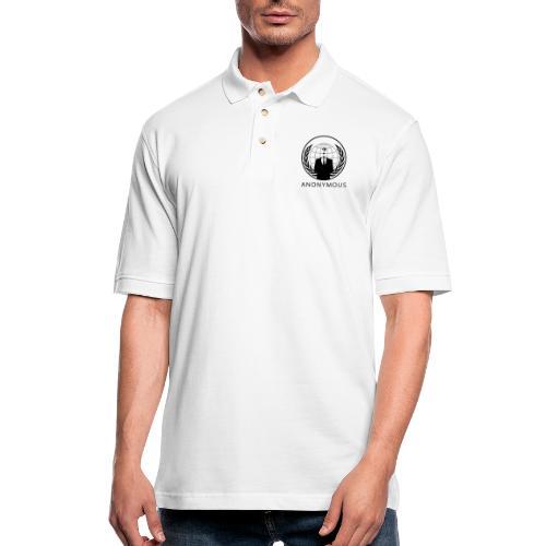 Anonymous 1 - Black - Men's Pique Polo Shirt