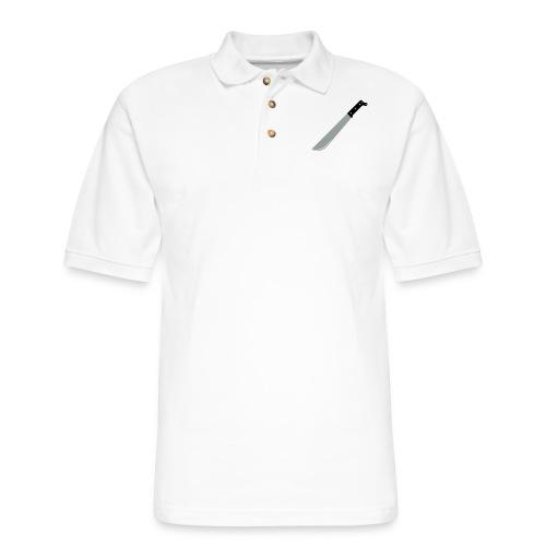 Machete with shadows (3 colors, customize) - Men's Pique Polo Shirt