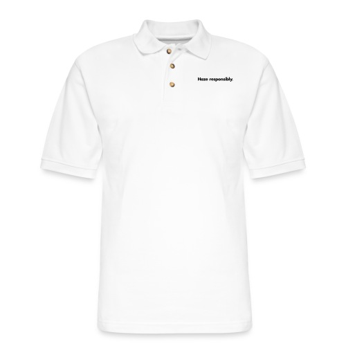 Haze Responsibly (1-Color, Custom) - Men's Pique Polo Shirt
