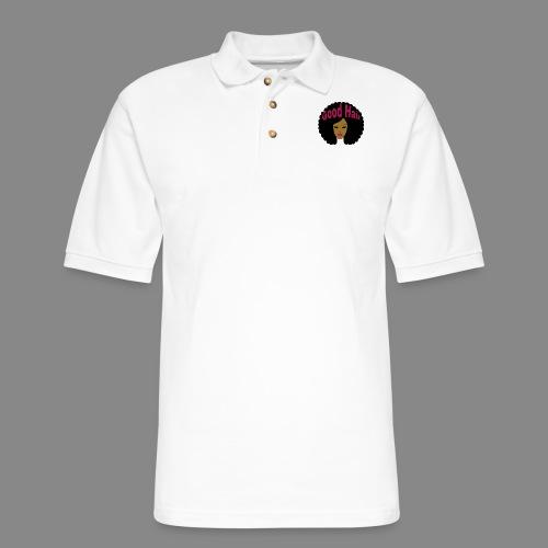 Good Hair (Pink) - Men's Pique Polo Shirt