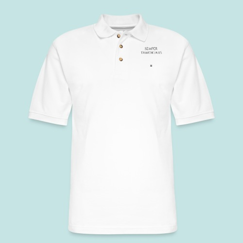Semper Immortalis (black) - Men's Pique Polo Shirt