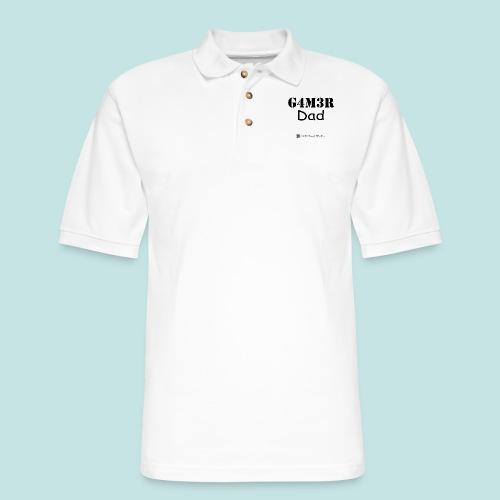 Gamer Dad (black) - Men's Pique Polo Shirt