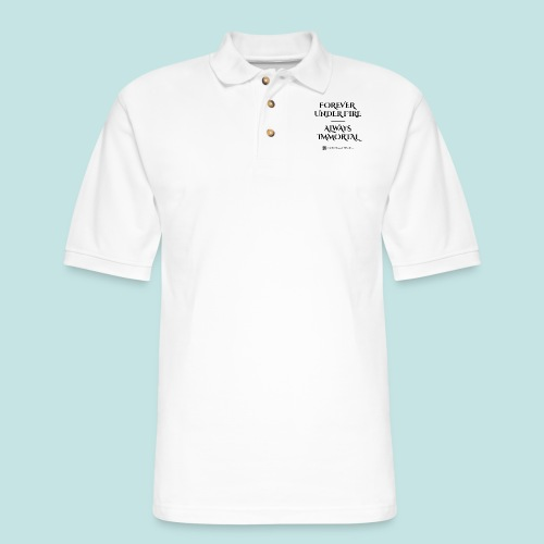 Always Immortal (black) - Men's Pique Polo Shirt