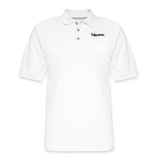 Ladypreneur Black Splatter - Men's Pique Polo Shirt