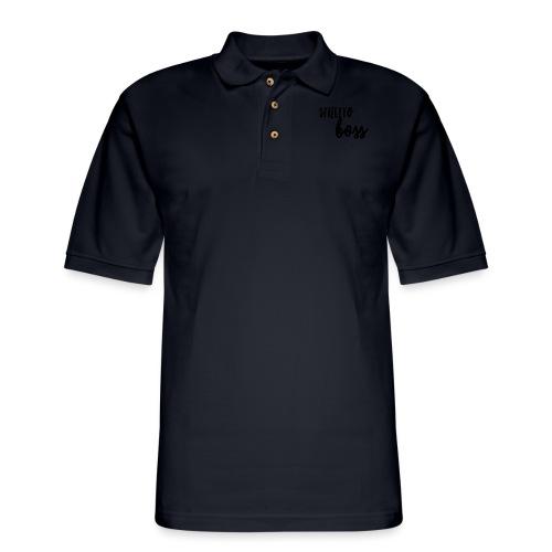StilettoBoss Low-Blk - Men's Pique Polo Shirt