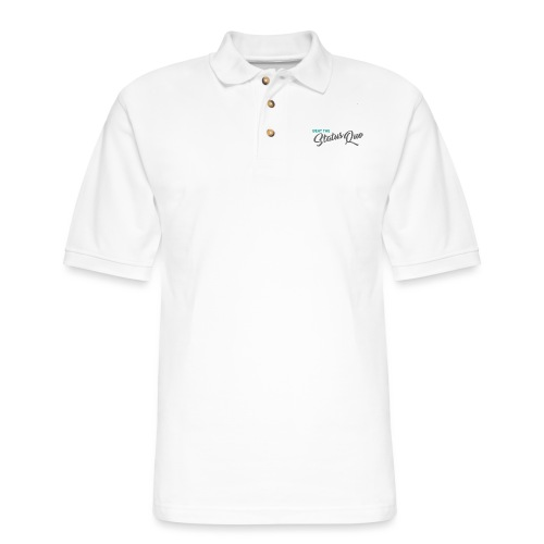 Beat The Status Quo - Men's Pique Polo Shirt