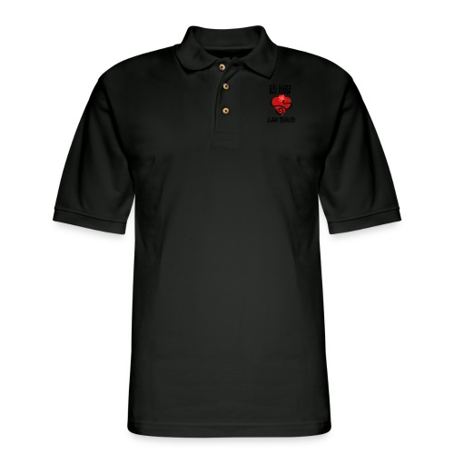 Your'e a Red Rose but a Black Thorn shirt - Men's Pique Polo Shirt