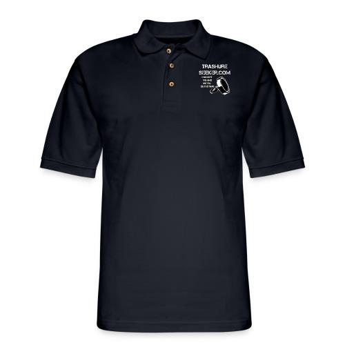 trashureseeker logo - Men's Pique Polo Shirt