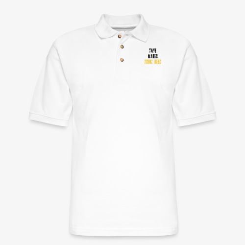 Save water drink beer - Men's Pique Polo Shirt