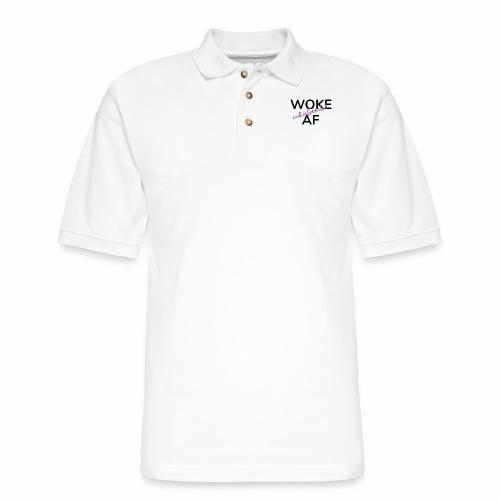 Woke & Caffeinated AF design - Men's Pique Polo Shirt