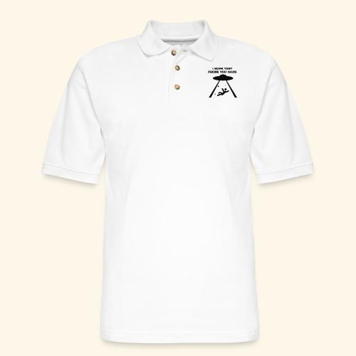 i hope they probe you - Men's Pique Polo Shirt