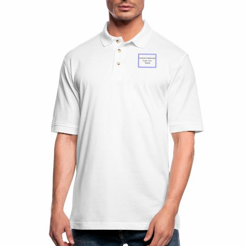 Franklin Mass townie certificate of authenticity - Men's Pique Polo Shirt