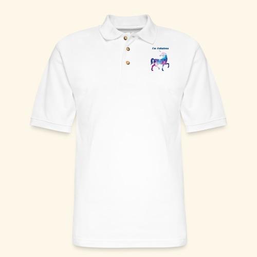 I'm Fabulous Unicorn - Men's Pique Polo Shirt