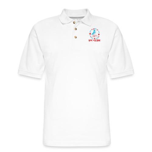 Cute Love Machine Bird - Men's Pique Polo Shirt