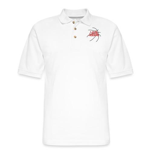 Live Love Hoops Basketball - Men's Pique Polo Shirt