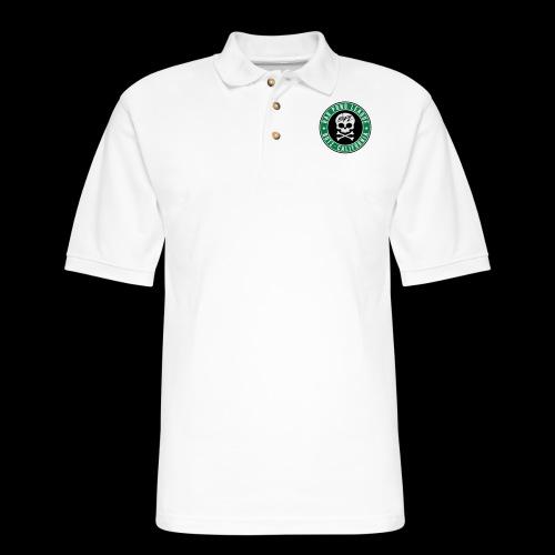 Bar Pong Badge Logo - Men's Pique Polo Shirt
