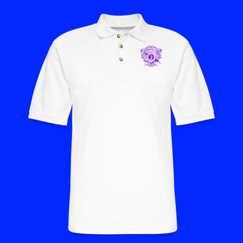 Vintage Cannonball Bingo Crest Purple - Men's Pique Polo Shirt