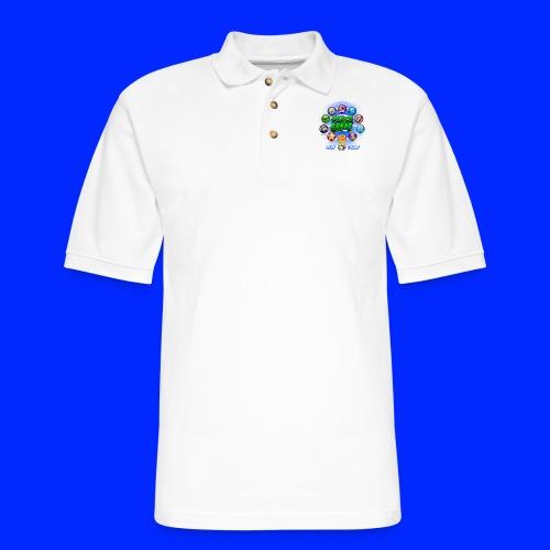 Vintage Cannonball Bingo Power-Up Tee - Men's Pique Polo Shirt