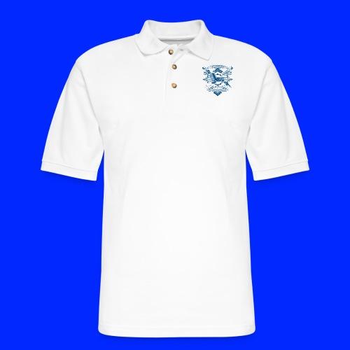 Vintage Leet Sauce Studios Crest Blue - Men's Pique Polo Shirt