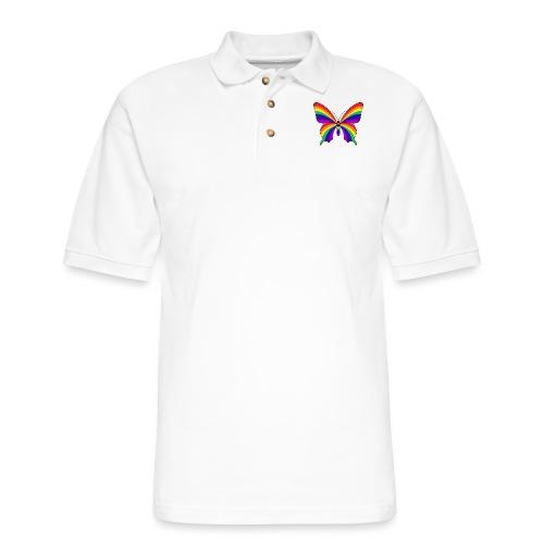 Rainbow Butterfly - Men's Pique Polo Shirt