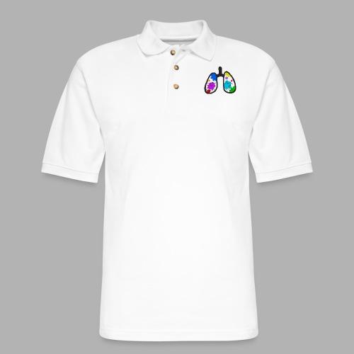 Remember to Breathe - Men's Pique Polo Shirt
