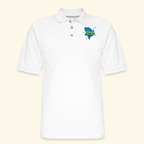 Massena NY Blue - Men's Pique Polo Shirt