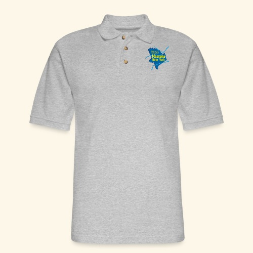 Massena NY Blue - Men's Pique Polo Shirt