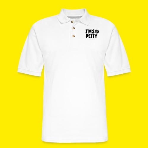 So Petty Black LOGO - Men's Pique Polo Shirt