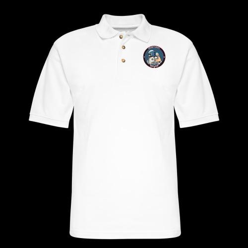 Space Cadet Can Do Badge - Men's Pique Polo Shirt