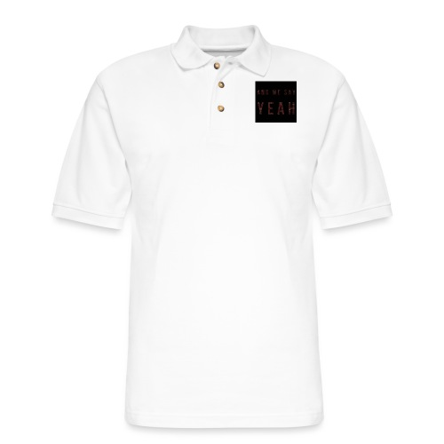 """Yeah"" Lyric - Men's Pique Polo Shirt"