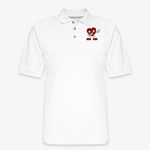 Women's T-Shirt Dabbing Heart - Men's Pique Polo Shirt