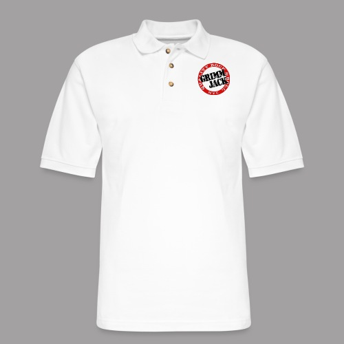 GJ BlackRed - Men's Pique Polo Shirt