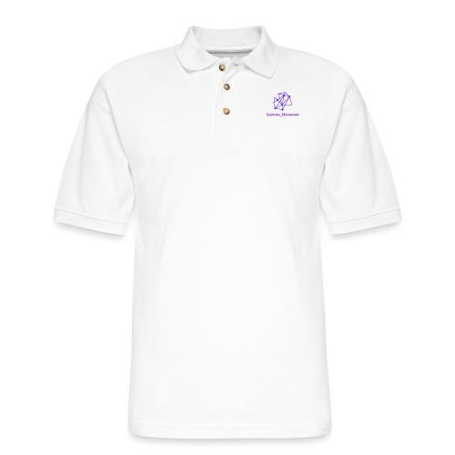 gaming network purple mens hodie - Men's Pique Polo Shirt