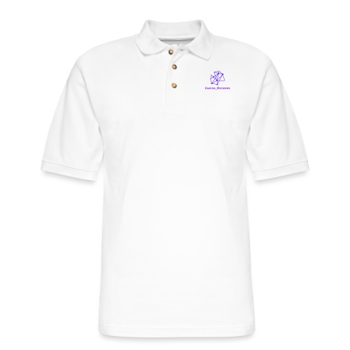 gaming network purple flat cap - Men's Pique Polo Shirt