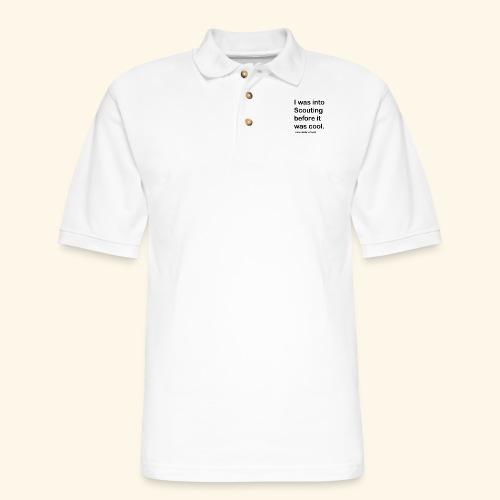 BP Fake cool quote - Men's Pique Polo Shirt