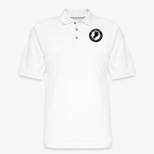 STALC Retro Logo BLACK - Men's Pique Polo Shirt