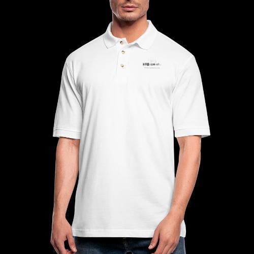 White Serialholic Logo - Men's Pique Polo Shirt