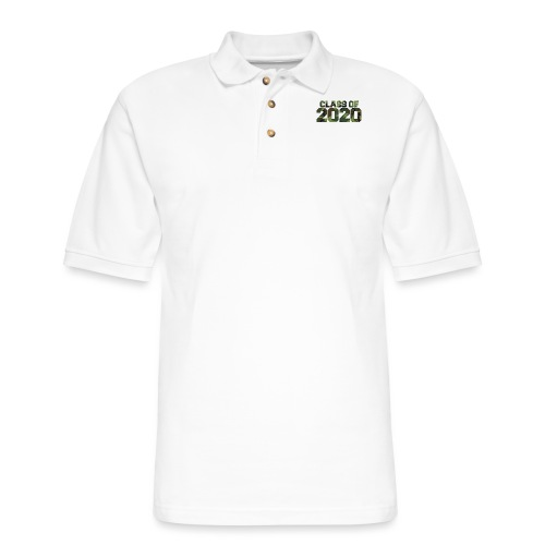 Class of 2020 Camo grad logo - Men's Pique Polo Shirt