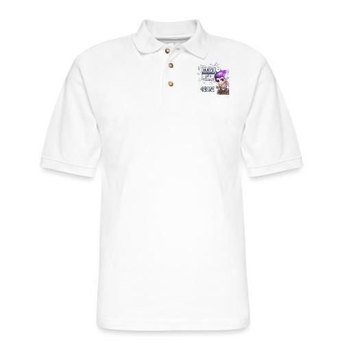 BE BRAVE - Men's Pique Polo Shirt