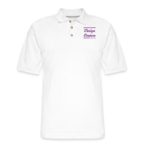 DESIGN COUTURE PURPLE - Men's Pique Polo Shirt