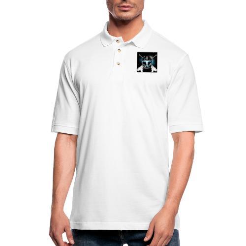 masked guns - Men's Pique Polo Shirt