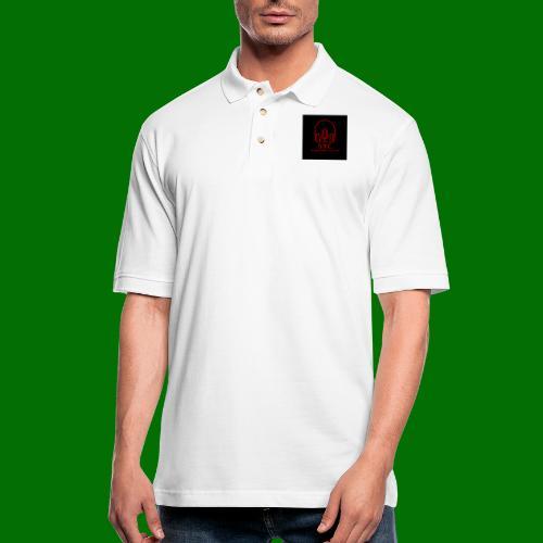 SPC Logo Black/Red - Men's Pique Polo Shirt
