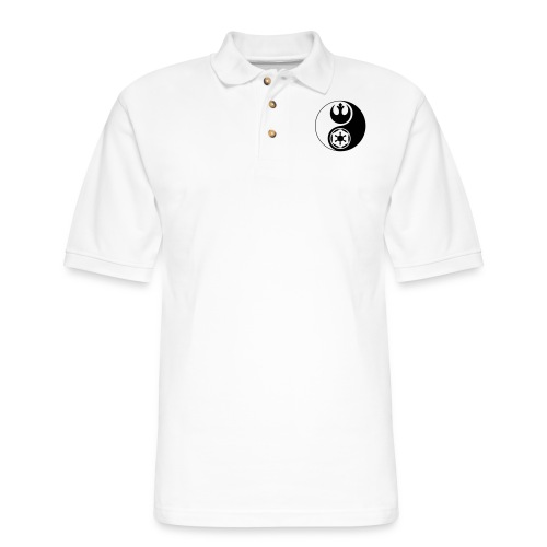 Star Wars Yin Yang 1-Color Dark - Men's Pique Polo Shirt