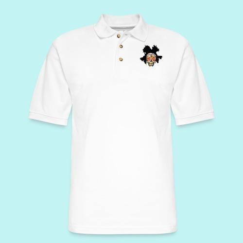 BASQUIAT SKULLY - Men's Pique Polo Shirt