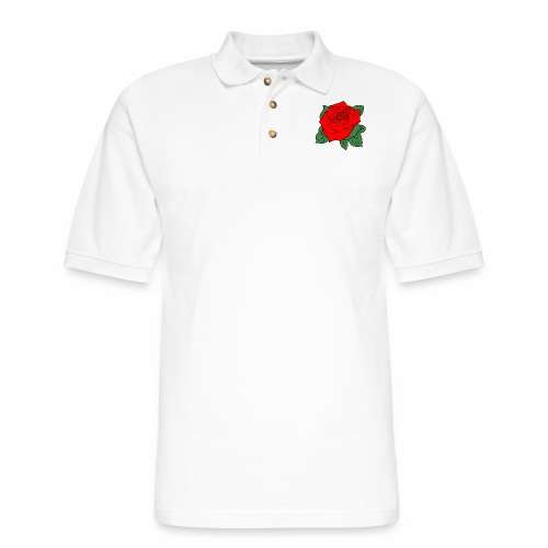 rose2d - Men's Pique Polo Shirt