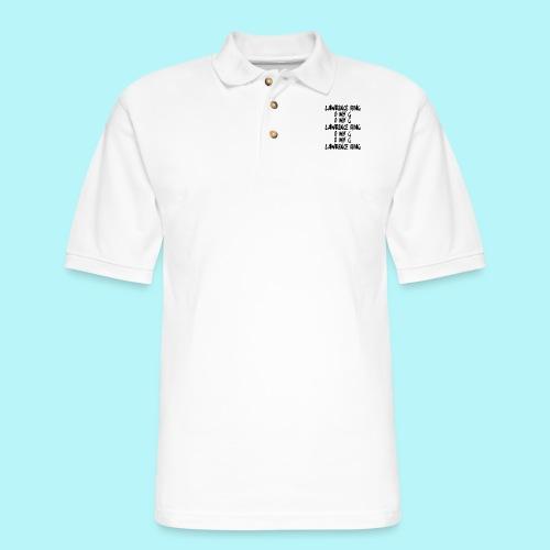 LAWRENCE BING , O MY G - Men's Pique Polo Shirt