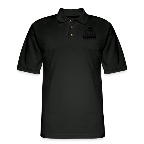 Le Torte Dolci Logo Solid Black Ink Version - Men's Pique Polo Shirt
