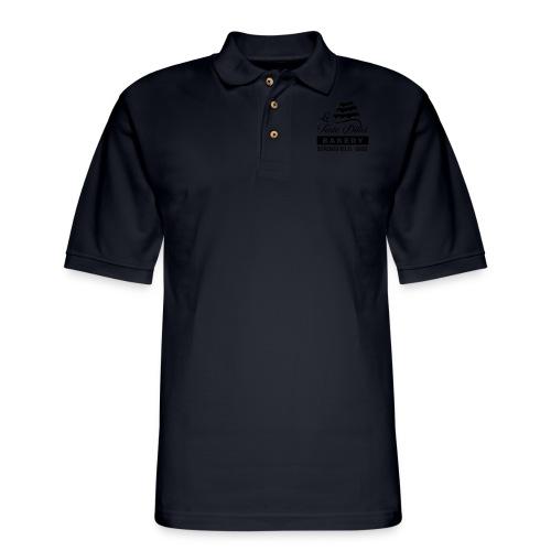 Le Torte Dolci Logo Solid Black Ink Version - Men's Pique Polo Shirt