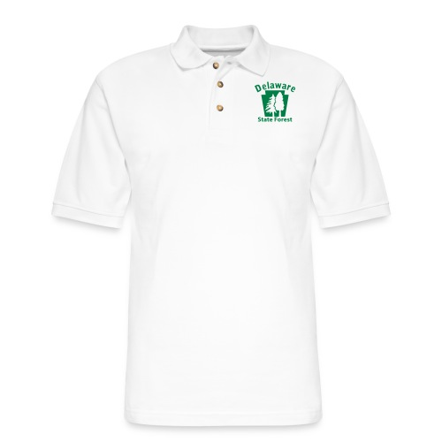 Delaware State Forest Keystone (w/trees) - Men's Pique Polo Shirt