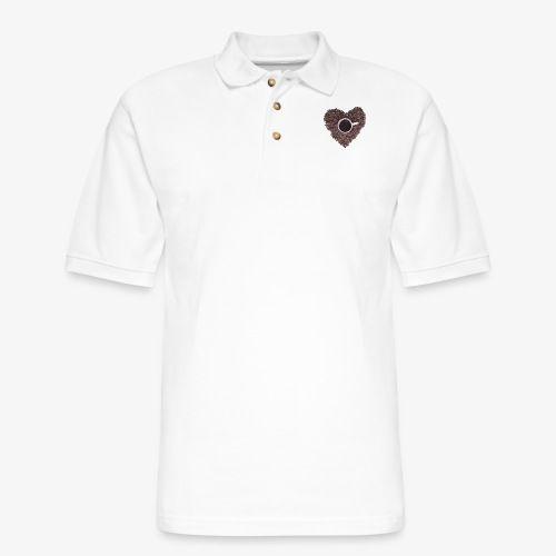 I Heart Coffee Black/White Mug - Men's Pique Polo Shirt
